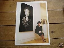 Margaret Thatcher Sitting Next to Portrait Poster