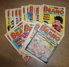 37 MAGAZINE  ISSUES OF ' THE BEANO ' ALL 1996* UK POST £3.25  *
