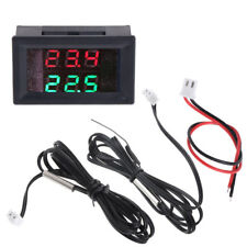DC 4-28V Precision Dual Display Digital Thermometer NTC Waterproof Metal Probe