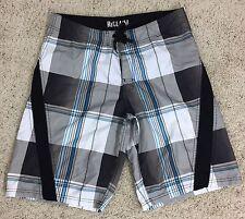 ReClaim Board Shorts Mens Size 32 Black Gray Blue Water Shorts
