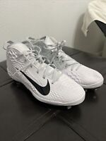 BRAND NEW Nike FORCE ZOOM TROUT 5 Men's Baseball Cleats Grey/White Size 14