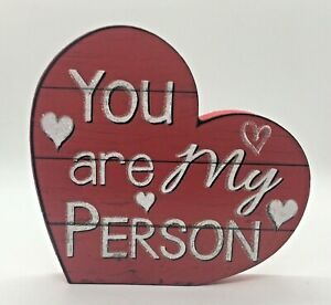 """New 5.5"""" Valentine's Day Tiered Tray Décor Heart Decoration """"You Are My Person"""""""