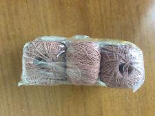 Vintage Yarn, Knitting Wool Ball / Skein 1960s 1970s Brown Sirdar Shemara