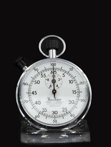 Hanhart Ancre 11 Jewels Chronomètre 1/5 Sek , 1/100 Minimum ,Rétro, Bon État