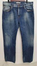 Scotch Soda Mens Ronson Jeans 36x34 Button Fly Dark Wash Straight Leg Cotton