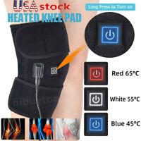 Electric Heated Knee Pad Arthritis Pain Relief Warm Therapy Leg Wrap Belt Brace