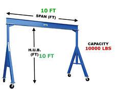 VESTIL FIXED GANTRY CRANE - 5 TON CAPACITY, SPAN 10 FT, HUB 10 FT