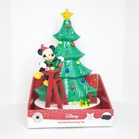 Disney Mickey Minnie Mouse Decorating Christmas TREE Lights Music SEE VIDEO