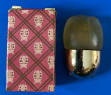Vintage Avon Frosted Glass Ladybug Patchwork Perfume 1/8 fl oz With Box Nos