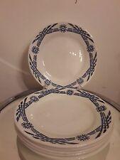 lot d'anciennes assiettes a dessert choisy le roi HBCM yvette bleu art deco