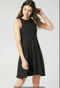 ATHLETA  Santorini Thera Dress Sm SMALL Black NEW SOFT Casual