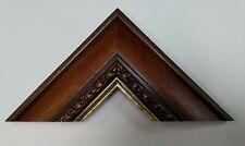 3.8m bundle (4 x 95 cm) Traditional Ornate Wooden Picture Frame Moulding 63mm