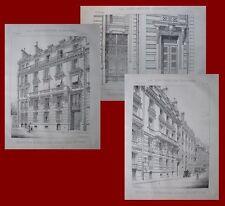 Maison, rue de Bourgogne à Paris..planches 1893...Architecture