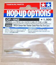 Tamiya 54042 TRF501X Damper Hard Titanium Coated Piston Rod (Front/2 Pcs.), NIP
