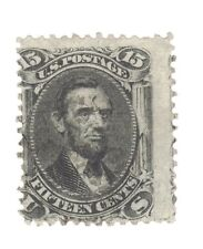 Scott 77 Early US Stamp 15c Lincoln ...1861-62. Light  Cancel