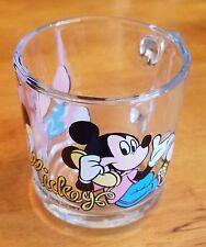 Walt Disney Mickey Minnie Mouse Glass Cup 8-10 oz Collectible Coffee Mug Phone