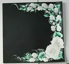 White Rose's Wedding Scrapbook Page  Creative PreMade Hand painted
