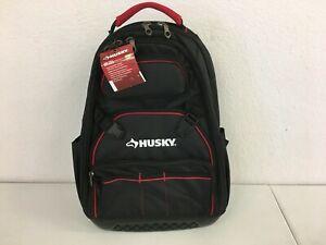 Tool Backpack Bag 18 in. Pro, Black, 20 Pockets Heavy Duty Storage Organizer