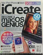 iCreate UK Issue 168 Become A Mac OS Genius Master Siri iPhone FREE SHIPPING sb