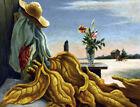 Framed canvas art print giclee Tobacco Leaves Thomas Hart Benton