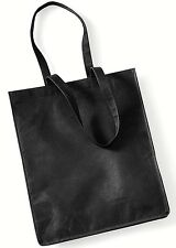 BLACK SUPERMARKET SHOPPING TOTE BAG STRONG LIGHTWEIGHT ECO-FRIENDLY NON WOVEN