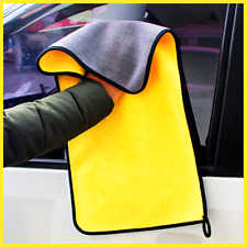 1Pc Car Cleaning Towel Hemming Microfiber Coral Velvet Double Sided High Density