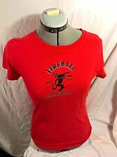 NEW* FIREBALL WHISKY LADIES SHIRT RED HOT MAMA ! SIZE SMALL BABY DOLL