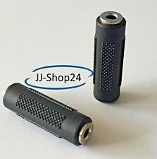 Audio Adapter 3,5mm Klinke Buchse - Buchse Stereo Kupplung Verbinder NEU