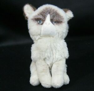 "Original Gund Grumpy Cat Plush 6"" Realistic Eyes Cream Brown Sitting"