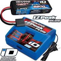Traxxas EZ-PEAK PLUS LiPo Charger & 5800mAh 7.4V iD Battery Combo for BANDIT