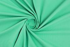 Denim estivo bianco panna petali verde acqua TESSUTO AL METRO STOFFA A METRAGGIO