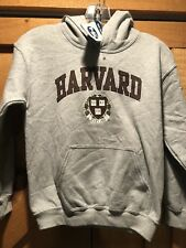 NWT Authentic Youth Harvard Crest Hooded Sweatshirt Hoodie Gray Size M Kids