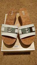 Limited time Offer: Michael Kors Warren Platform Slide Sandals Optic White 8.5m