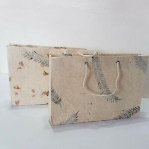 Lokta Gift Bag,Medium Handmade from Tree Free Paper, Eco Friendly & Sustainable