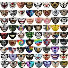 Women Mens Kids 3d Funny Mouth Mark Cover Facemask Washable Hip Hop Party Magic