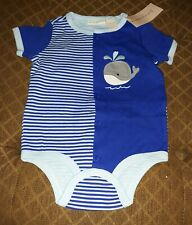 First Impressions 6-9 Month - Blue Whale Bodysuit/Romper - Nwt
