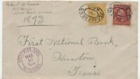 1910 Great Bend KS registered cover 10ct and 2ct WF [y4162]
