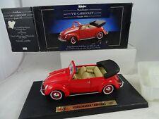 1:18 Maisto Tchibo Coche a Escala Vw-Cabriolet 1951 Rojo - Rareza§