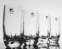 Bormioli RAVEL Highball Glasses Tumblers Italy NEW w Tags Square Twist Heavy