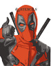 Multilayer step by step airbrush stencil Deadpool