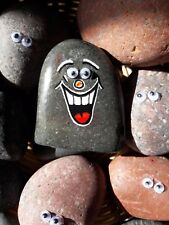 """Hand Painted Emoji Rock Art & Quote """"I'll Stand By You..."""" #1 on The Flipside"""