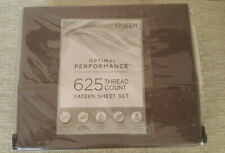 New 4-pc Grey 625 Thread Count Sateen Weave Optimal Performance Queen Sheet Set