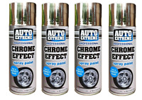 4 x Auto Chrome Foil Mirror Metallic Effect Auto Spray Paint 400ml Car Aerosol