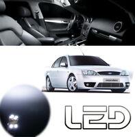 Ford MONDEO MK3 KIT 12 Ampoules LED Blanc plafonnier Habitacle coffre miroir sol