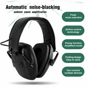 Electronic Noise Cancelling Foldable Headset Protection Ear Muffs