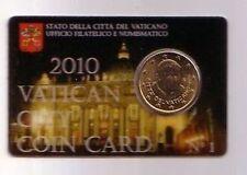 Vatican 50 cent 2010 coincard N° 1