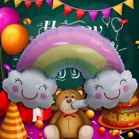 Rainbow Balloons Smile Cloud Birthday Party Wedding Decoration Foil Lark0907