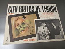 1965 CIEN GRITOS DE TERROR 100 Cries of Terror Lobby Card 16x12 VG- Mexican