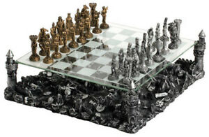"""CHH Knight Chess Board Complex Strategy Game Set King 3-1/4"""" Tall NEW"""