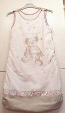 Lulu et Castagnette gigoteuse coton blanche taupe sans manche ours 6-36 mois
